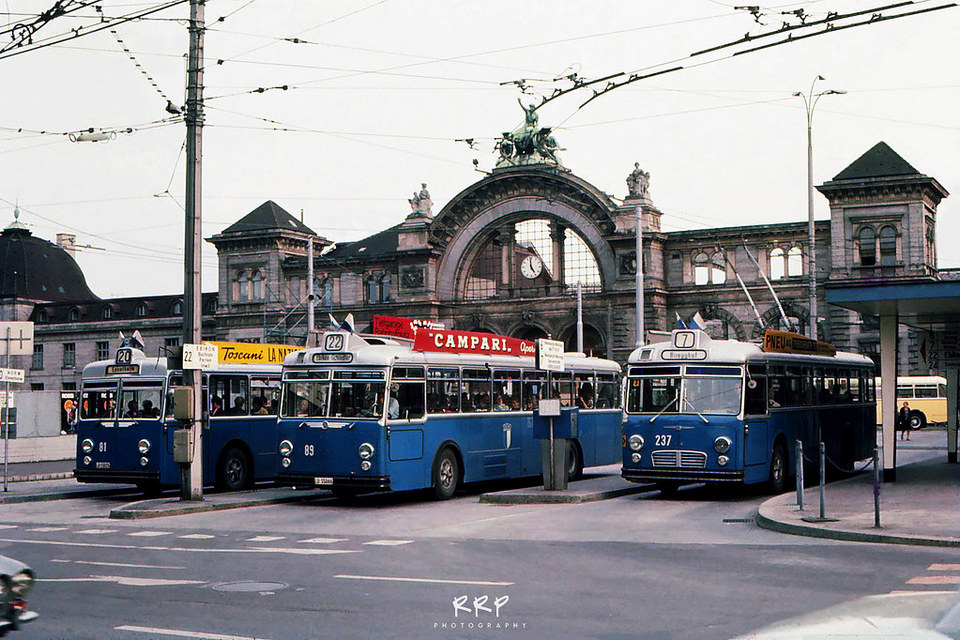 bus depot outside the lucerne station
