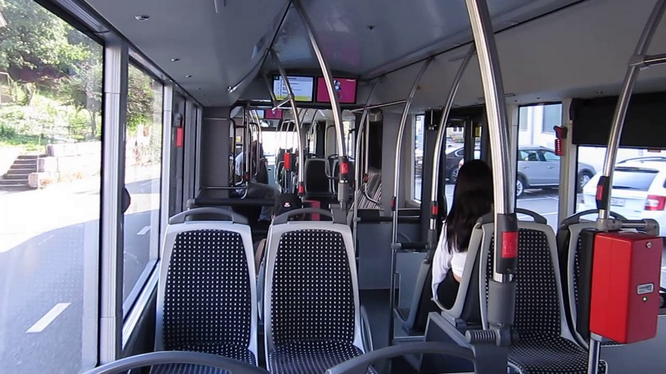 inside the trolleybus