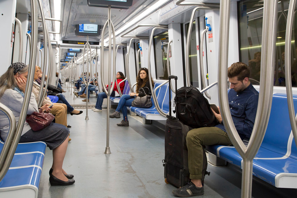 Metro train Line B (Blue) rome travel blog