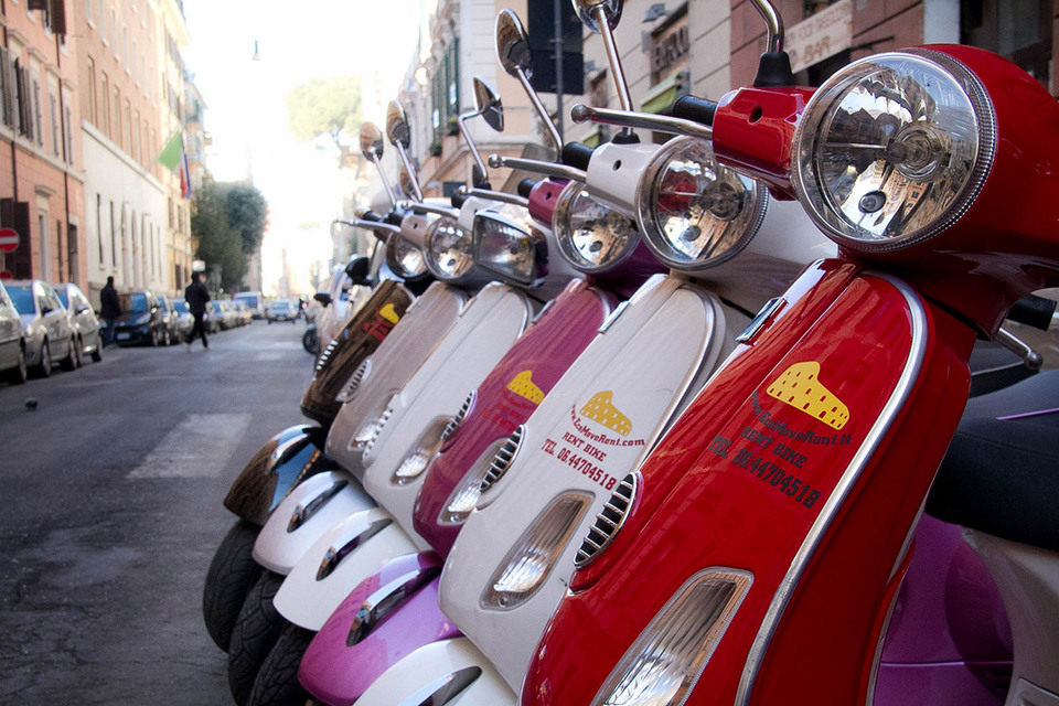 vespa for rent