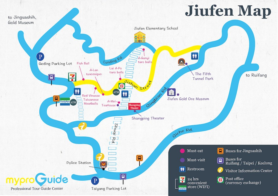 taipei jiufen map