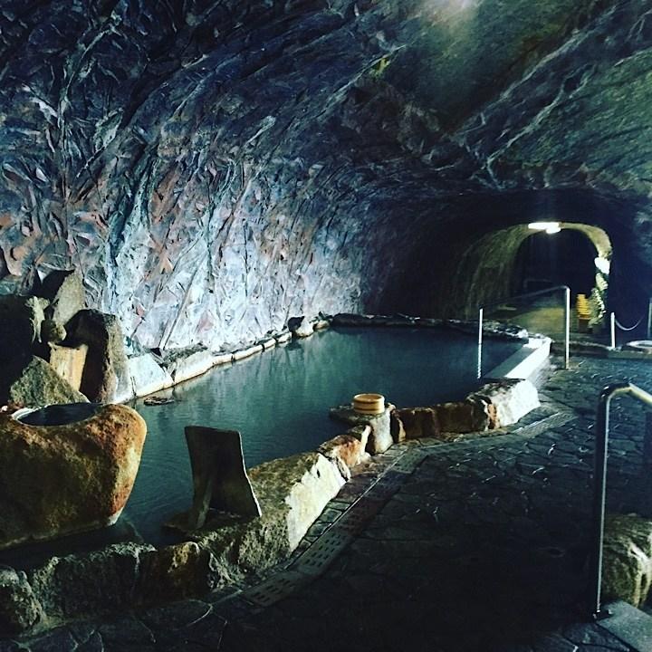 Urashima onsen in a cave