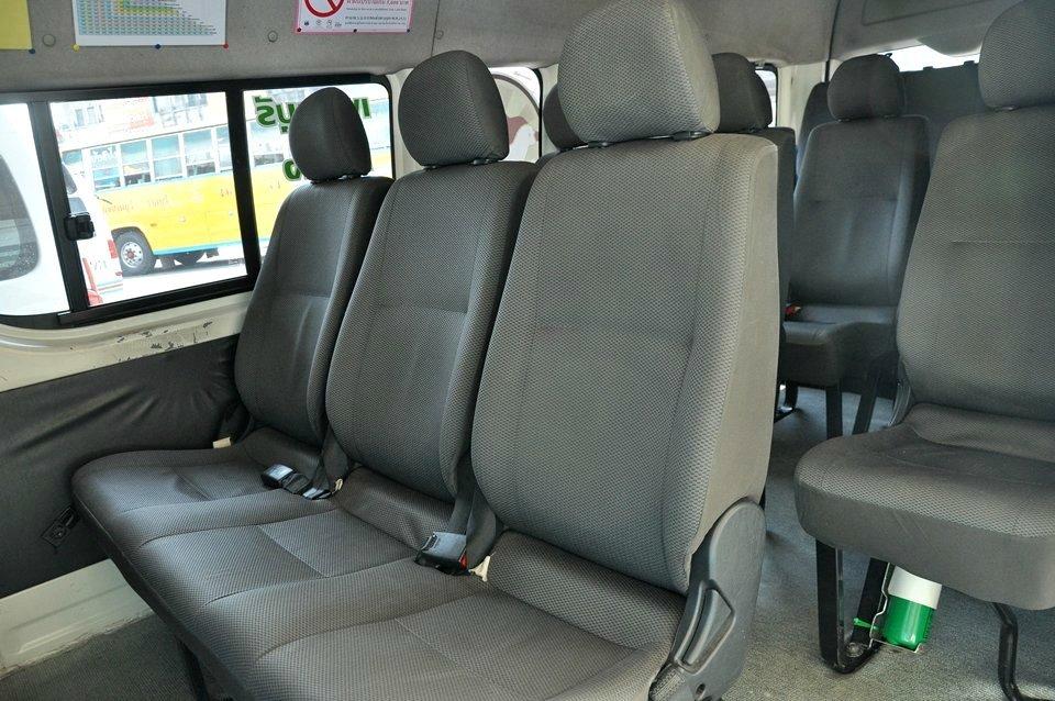 Inside the 16-seats minivan