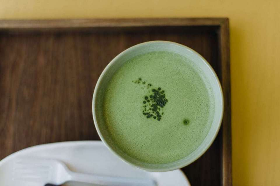 Beautiful, creamy, sweet matcha at the O'Sulloc Tea Museum