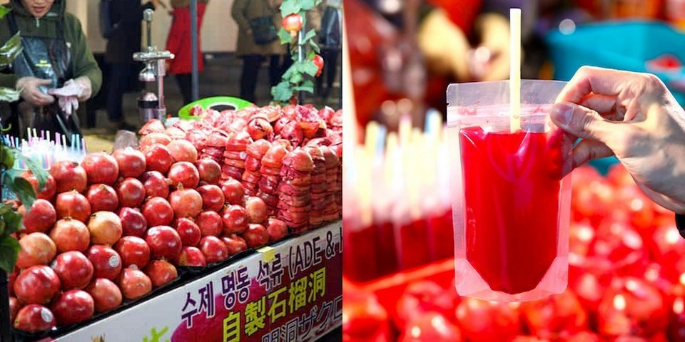 Image result for pomegranate juice myeongdong