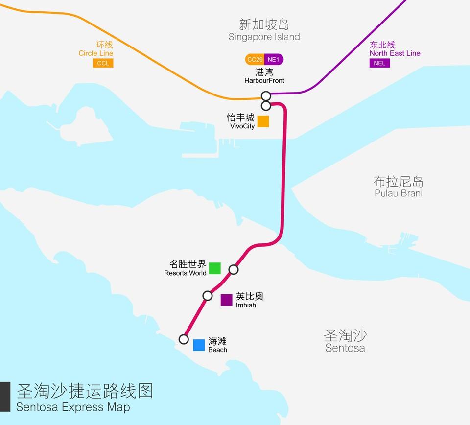 Sentosa Express Route Map,sentosa blog,sentosa guide,sentosa island blog,sentosa island guide,sentosa island travel guide,sentosa travel guide