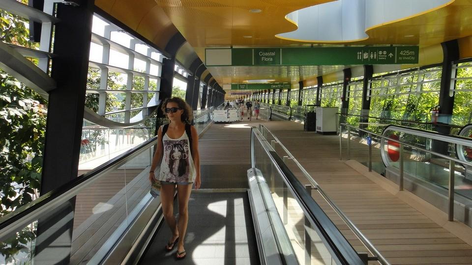 Take the electric board walk to Sentosa island