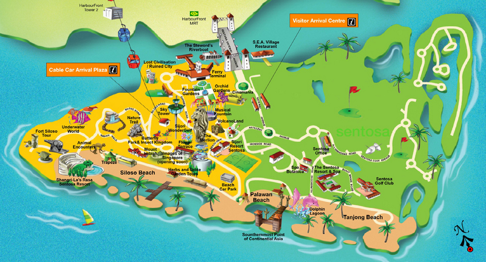 sentosa+map