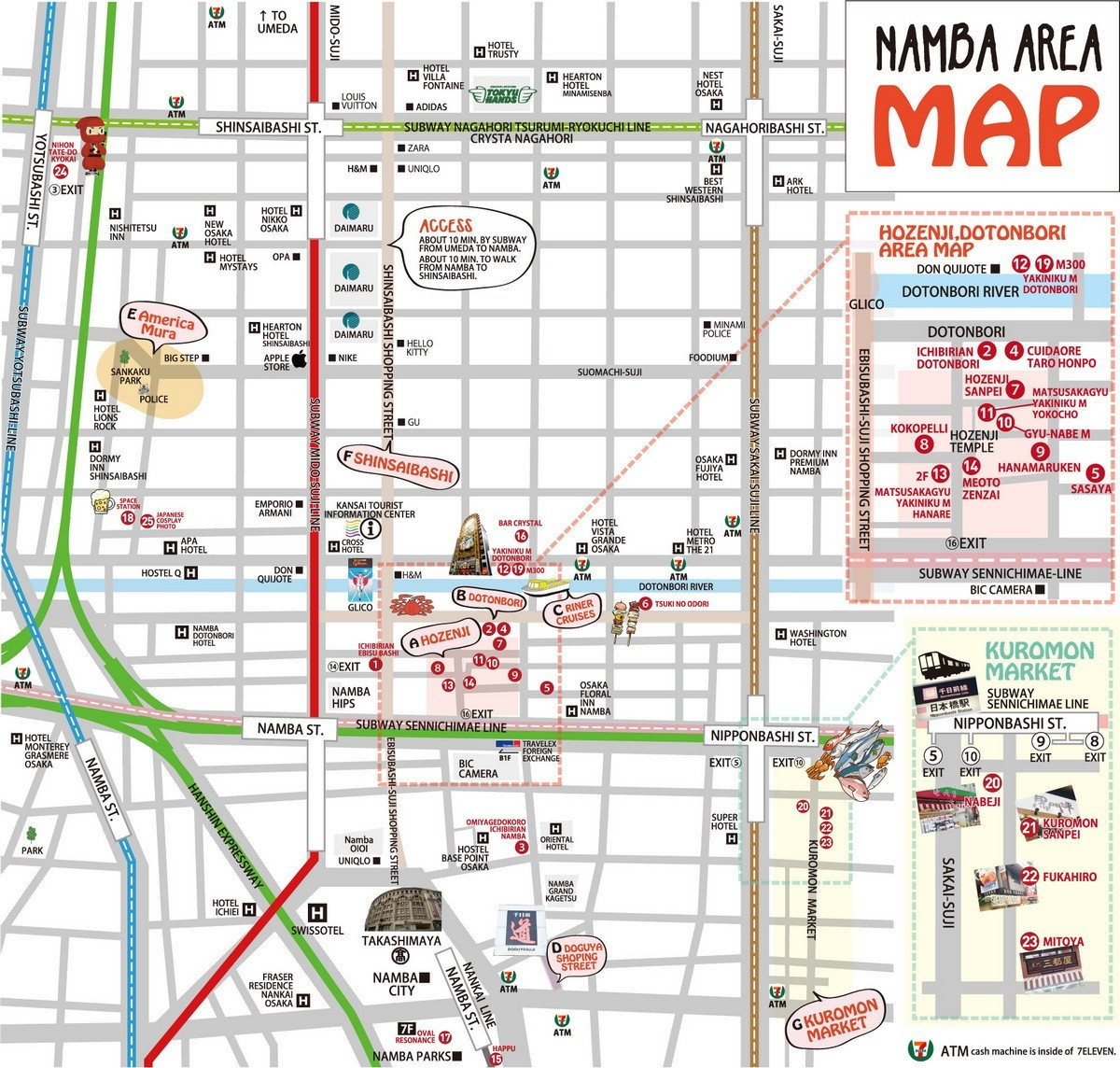 namba area map