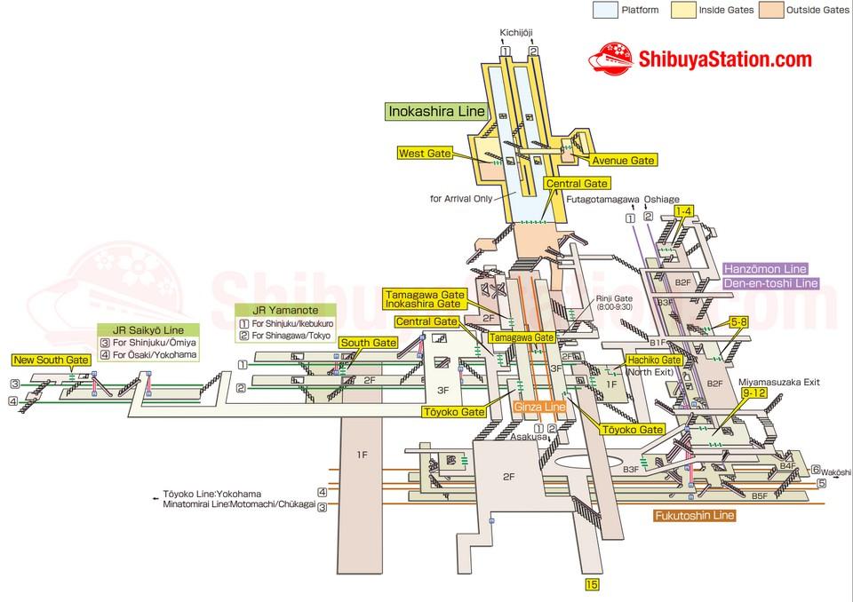Shibuya-Layout-Map