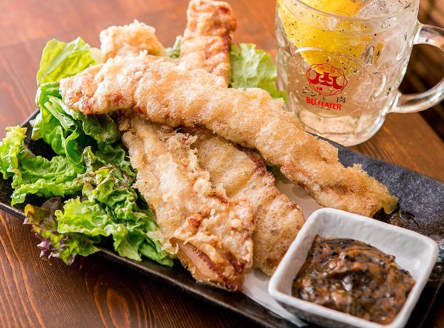 tempura and beer Shibuya Niku Yokocho