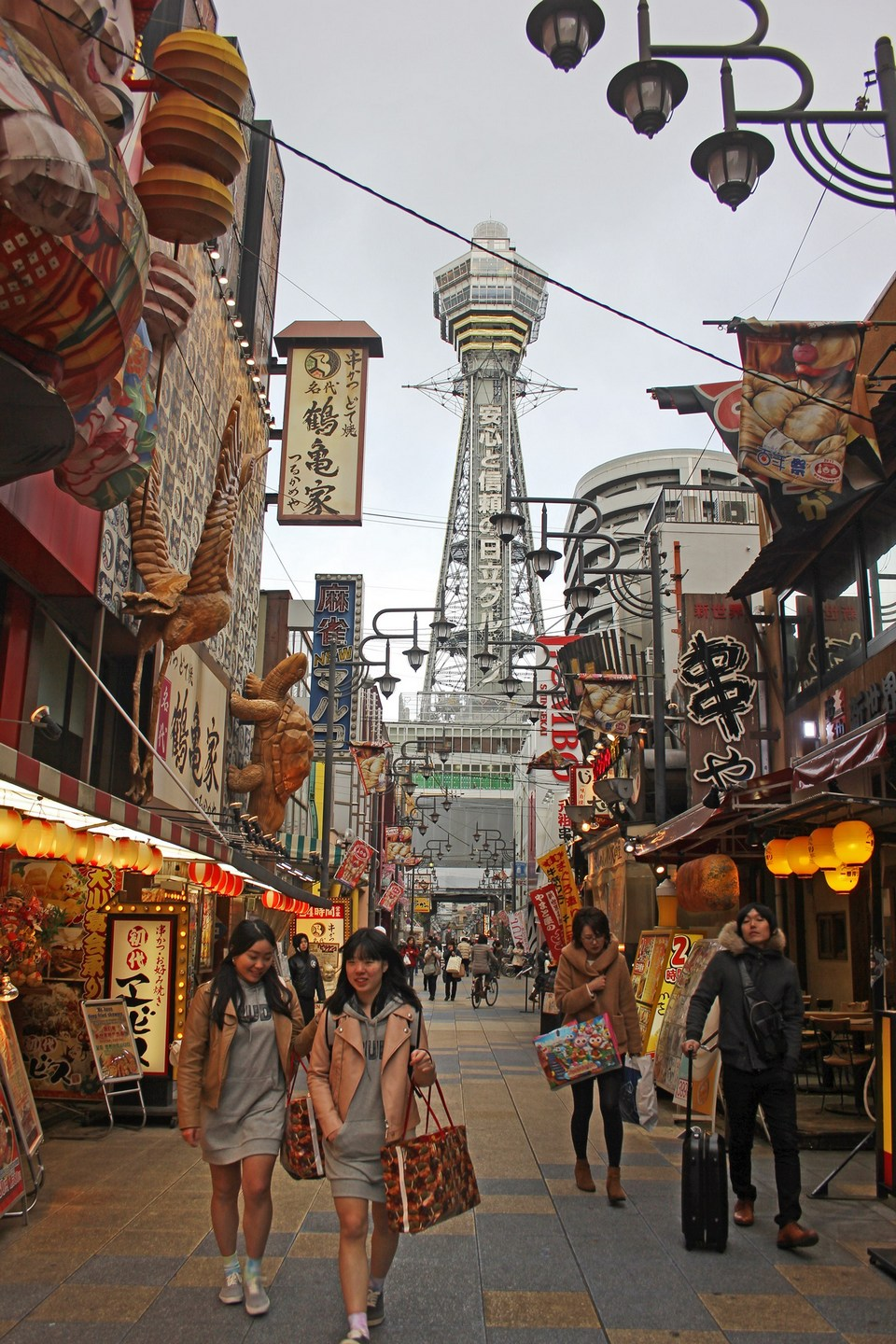 tsutenkakau-tower-osaka-japan| cheap shopping street in osaka