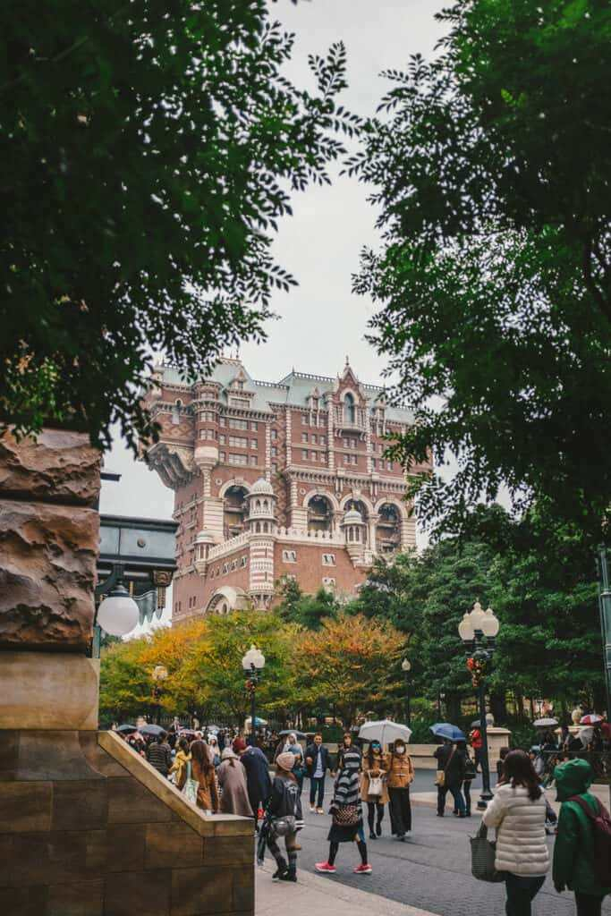 DisneySea Tokyo has a beautiful scenery like Europe.