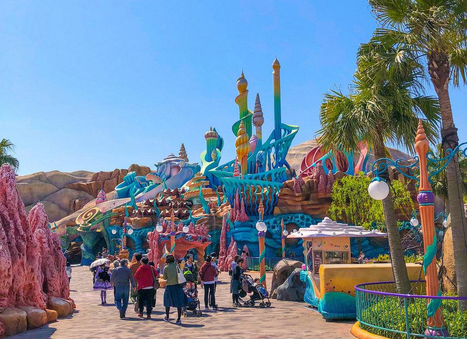 Mermaid Lagoon has a beautiful dreamy setting.