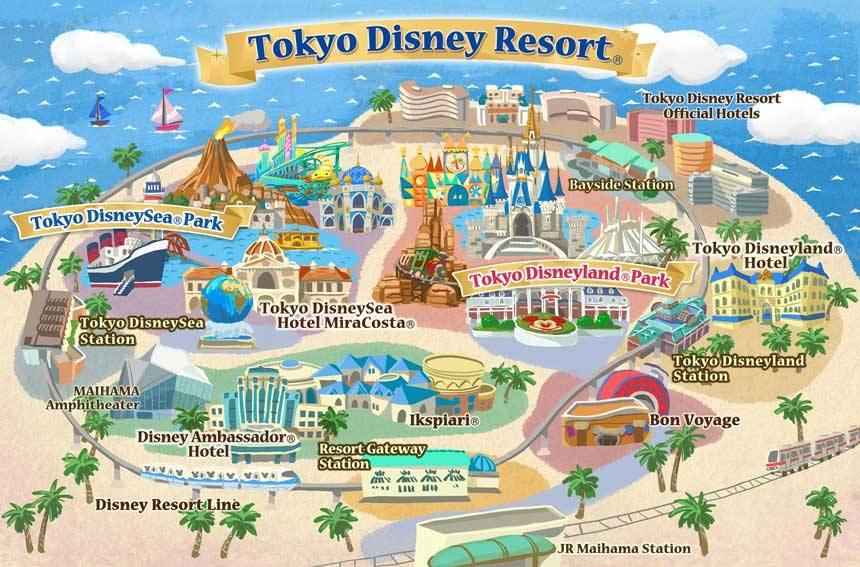 disney tokyo resort map