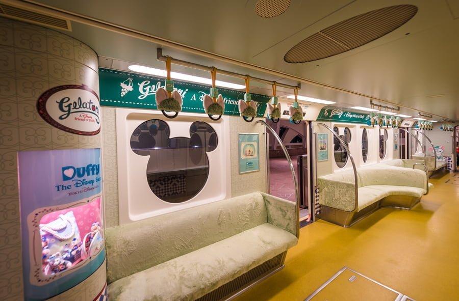 inside monorail tokyo disney