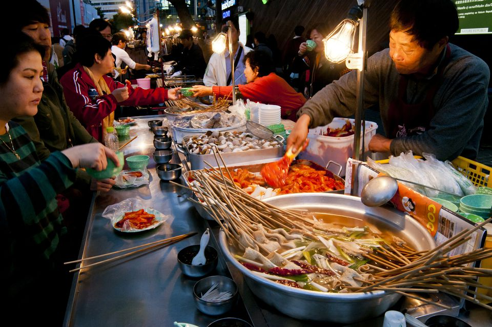 Gwangjang traditional food market seoul