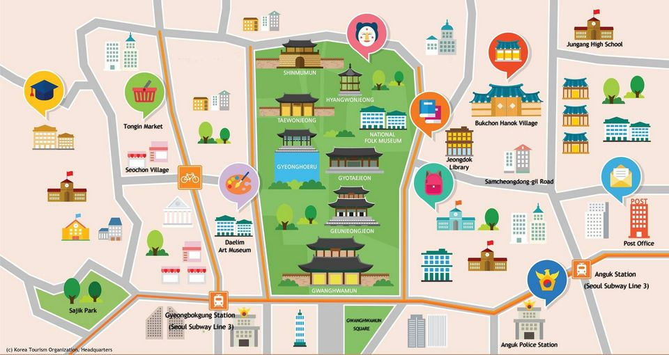Gyeongbokgung map