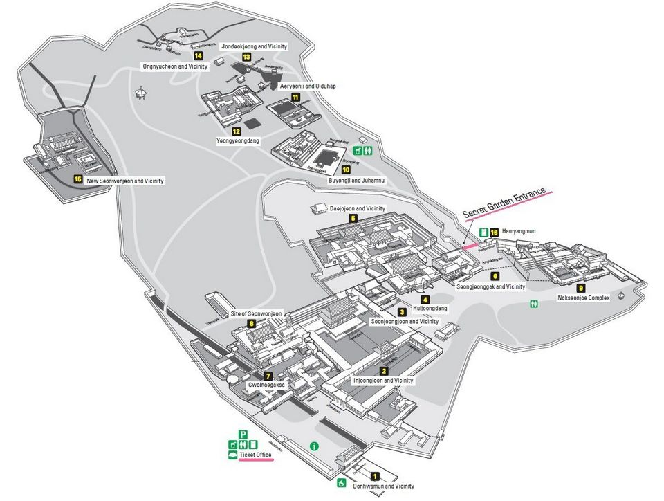 Map of Changdeokgung Palace and Secret Garden