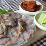 Hongeohoe (Fermented skate) — A crazy Korean food for your brave