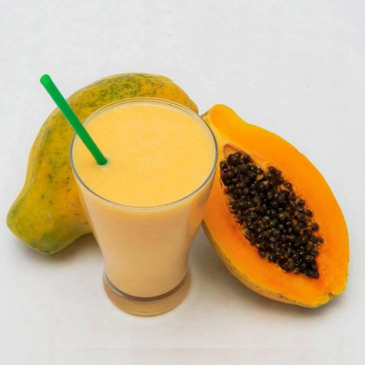 Papaya Milk Smoothie (Taiwanese Style) (1)