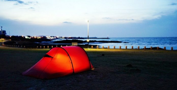 camping in jeju