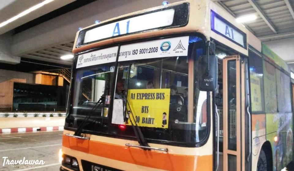 A1 shuttel bus at Don Muang Airport.