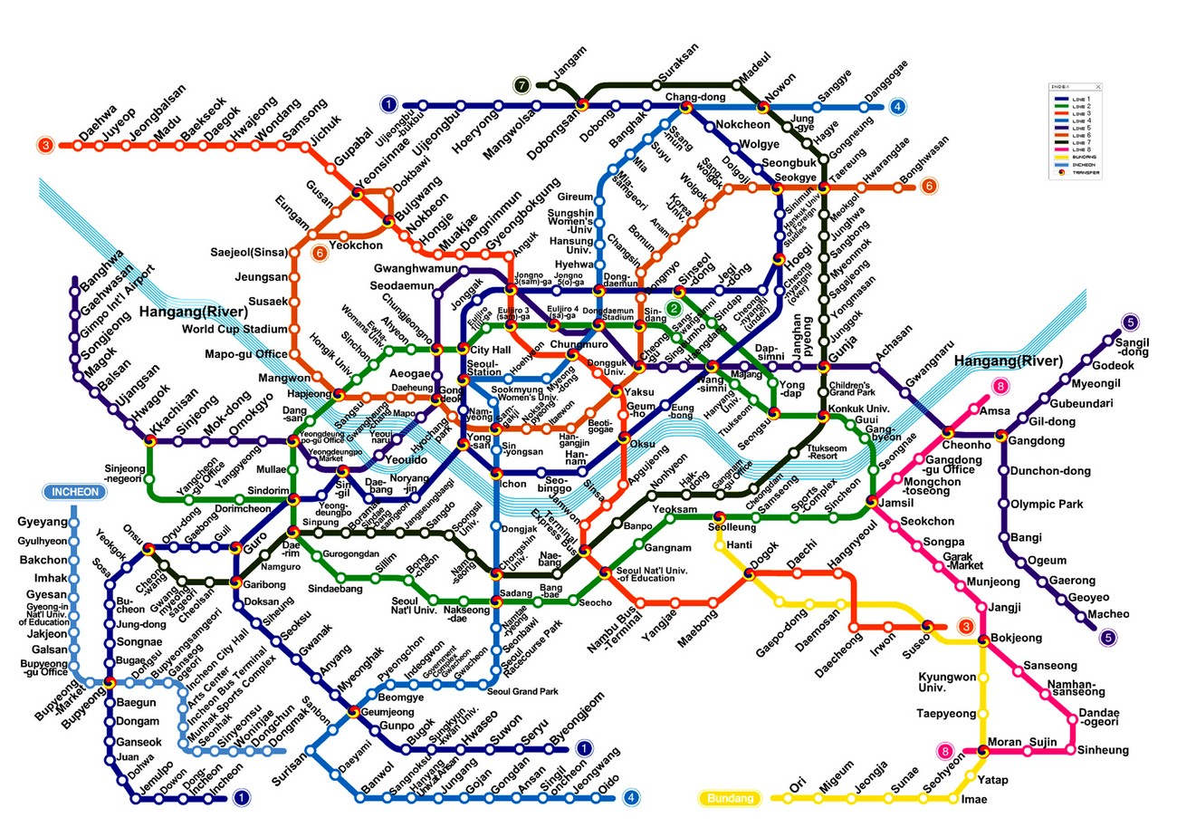 Seoul Subway Metro Map English Version