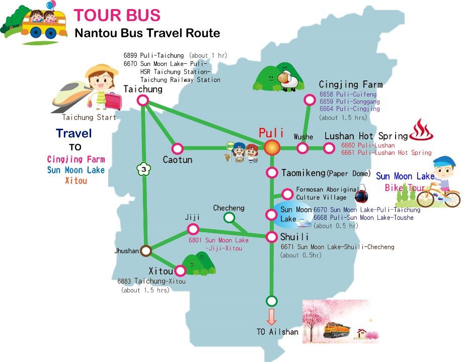 Nantou bus map