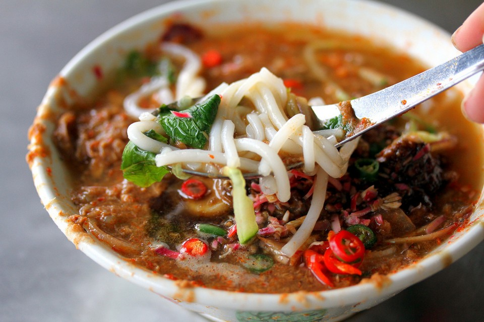 Assam Laksa dish looks like this but it is extremely delicious, rich.