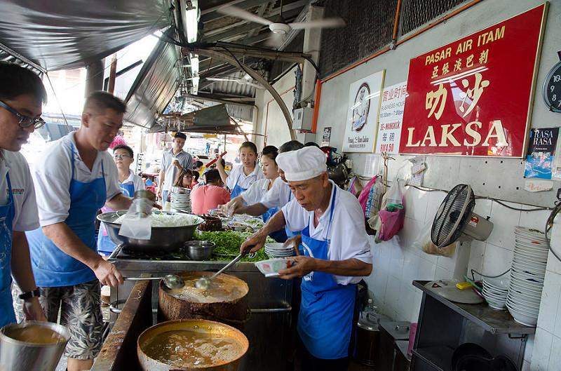 Pasar Air Itam Assam Laksa