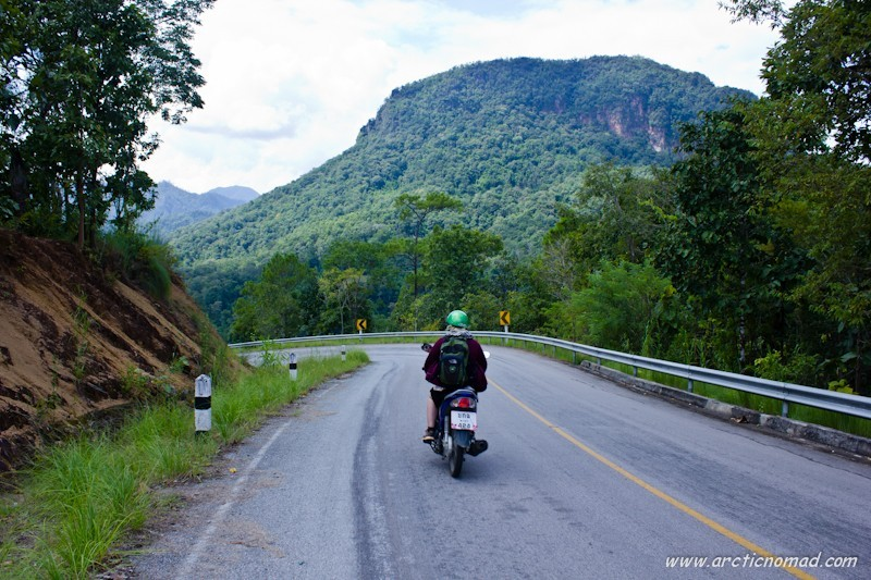 The twisting mountain road from Chiang Mai to Pai