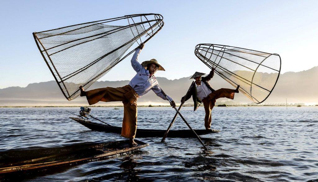 inle myanmar-fishermen