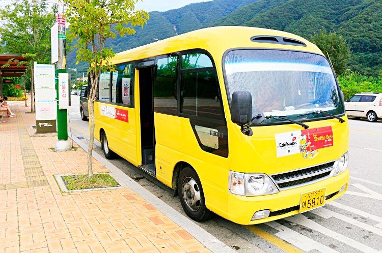 bus to edelweiss swiss theme park korea