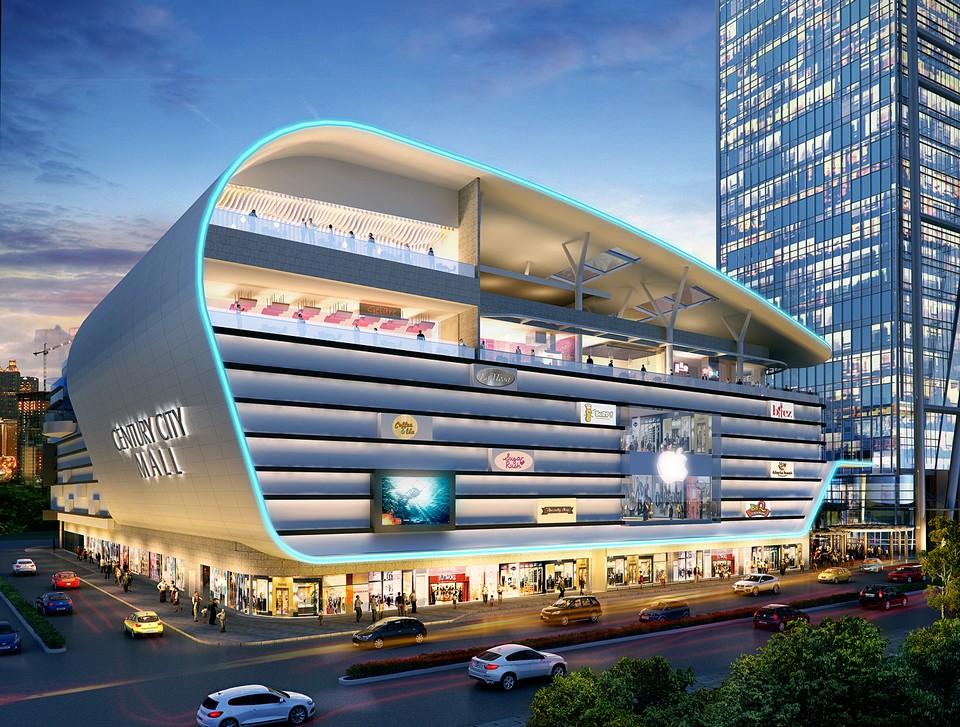 Makati-City-Philippines-Century-City-Mall-night