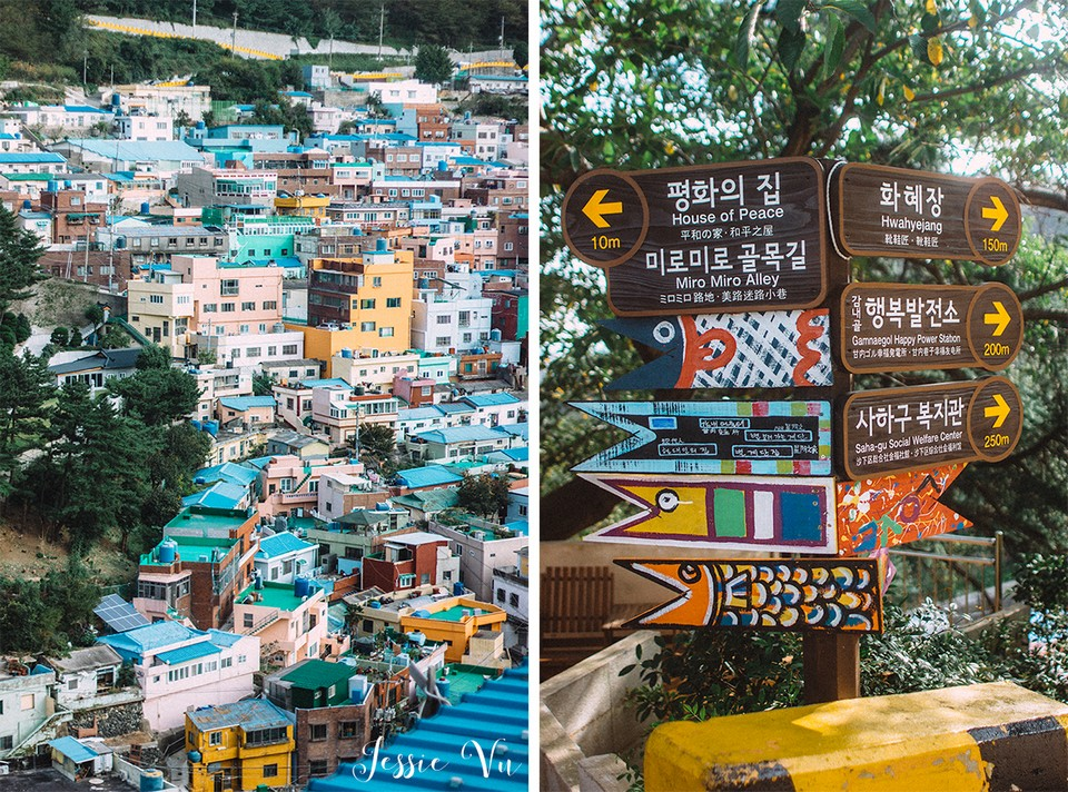 Gamcheon is quite large. It takes a long day to visit all the corners of the village.