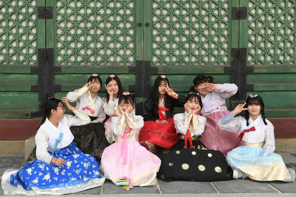 Variety of different styles of Hanbok are available.