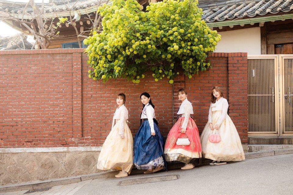 Traditiional hanbok in Korea