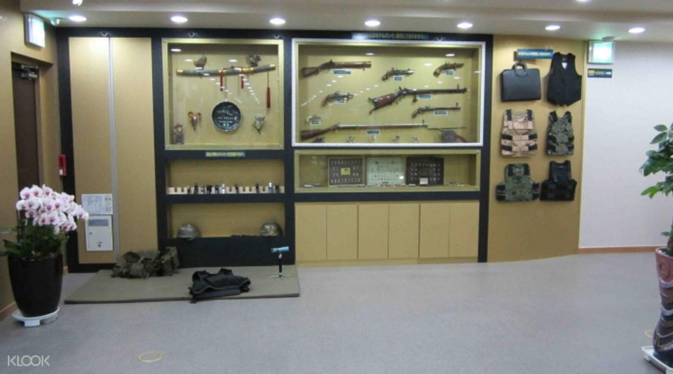 Inside Myeongdong real gun shooting range