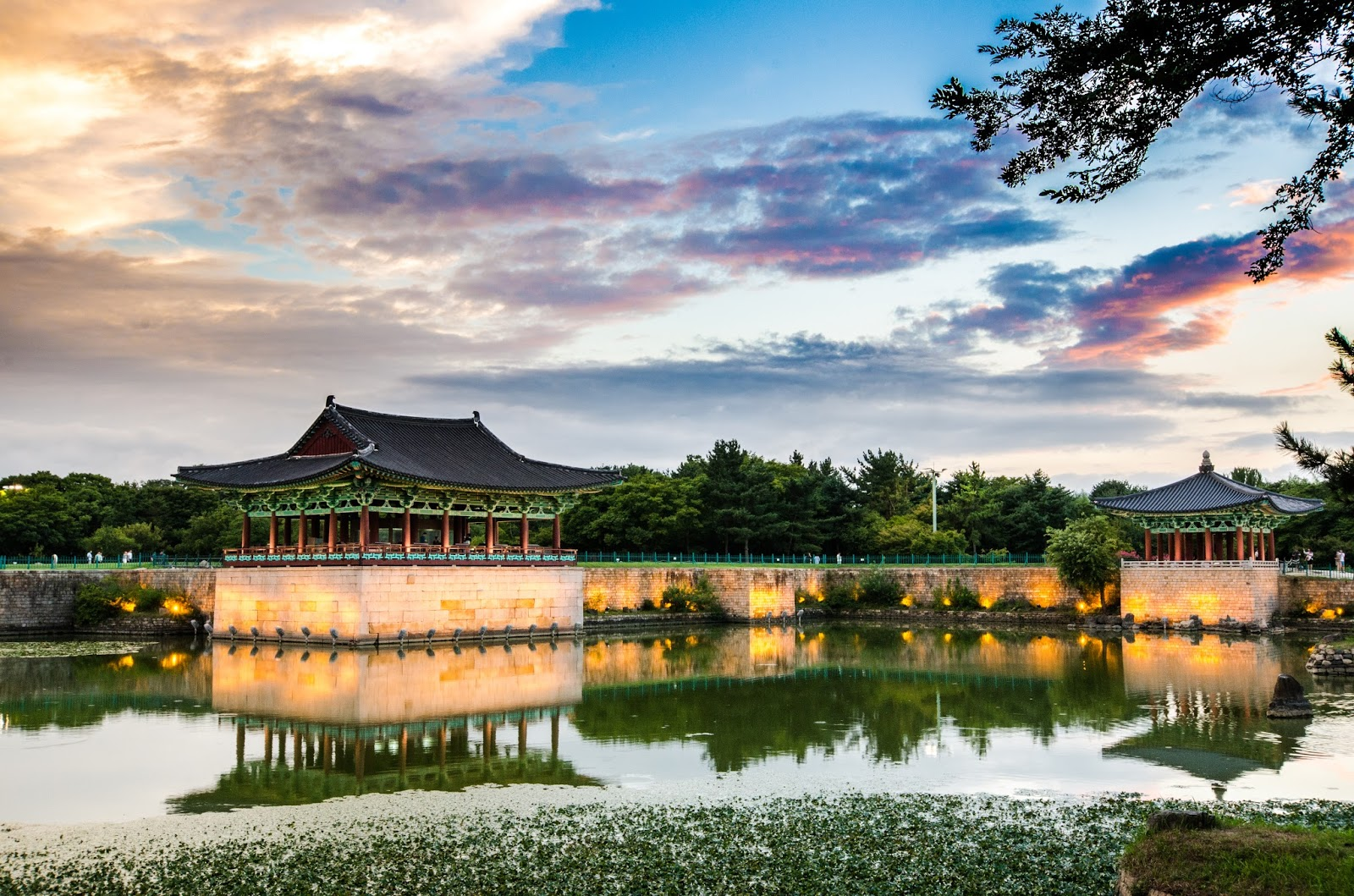 gyeongju anapji pond sunset
