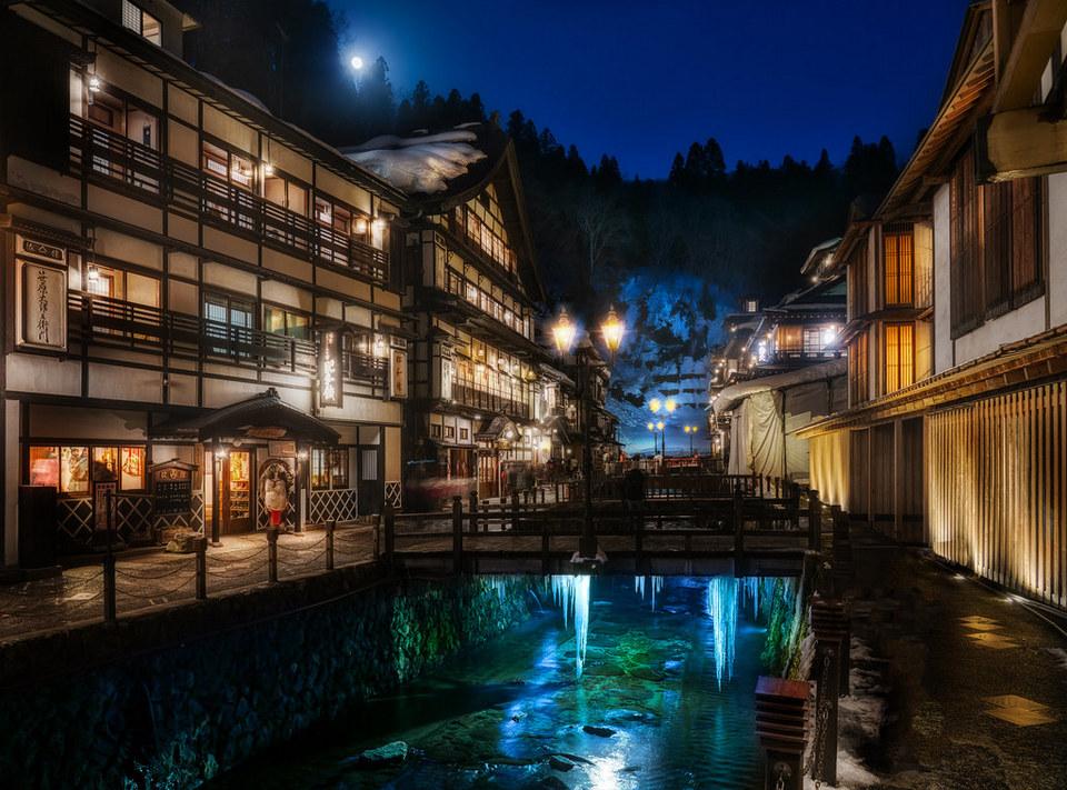 Fantasy town as a Spirited Away opus
