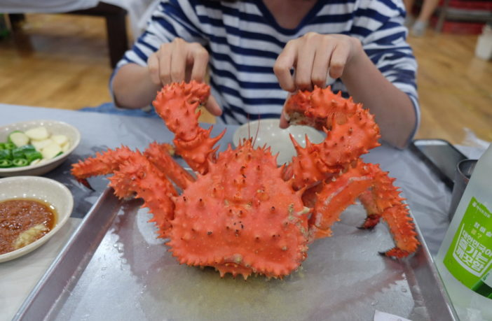 A king crab