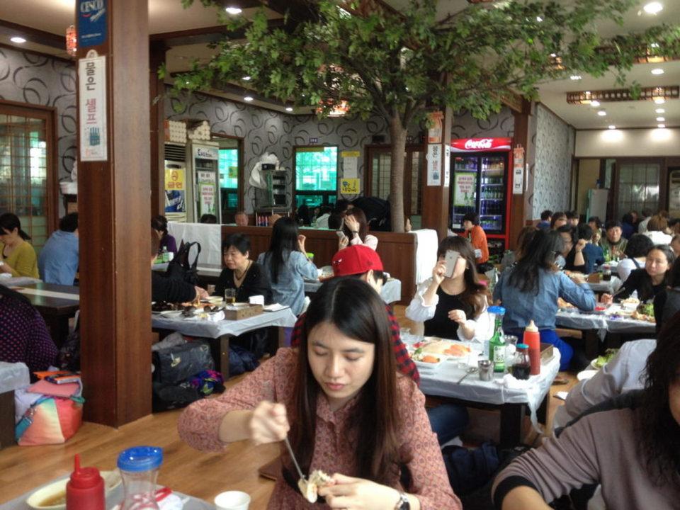 A restaurant at Noryangjin Fish Market
