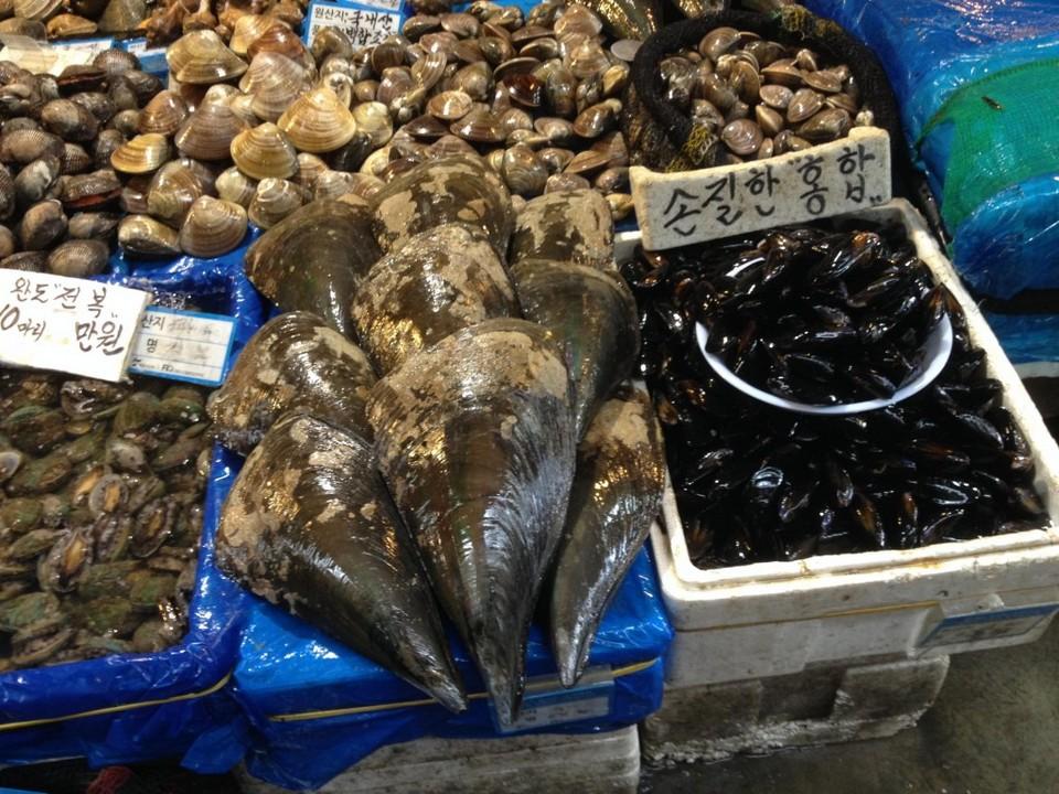 Amazing seafood in Noryangjin fish market