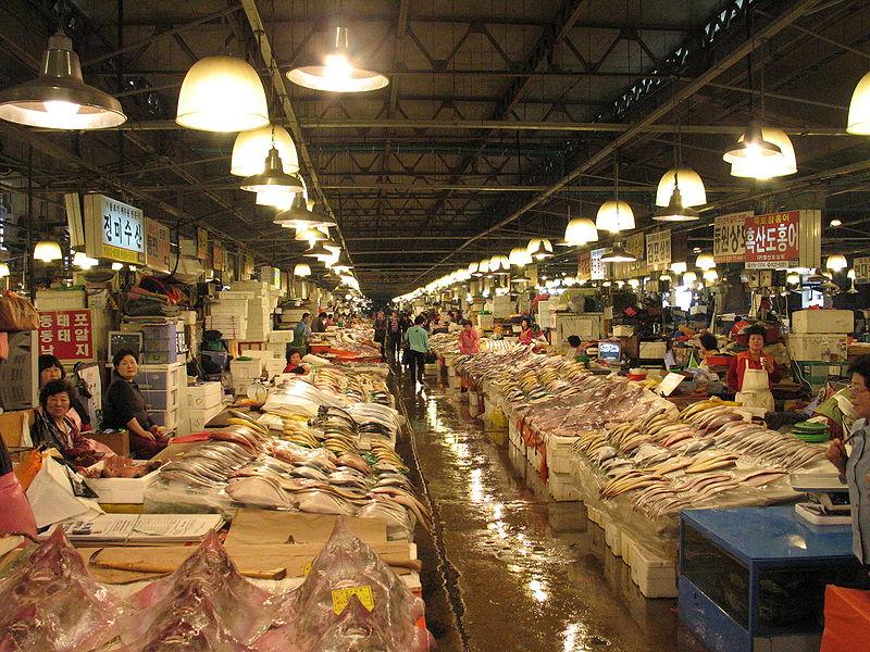 Inside Noryangjin fish market
