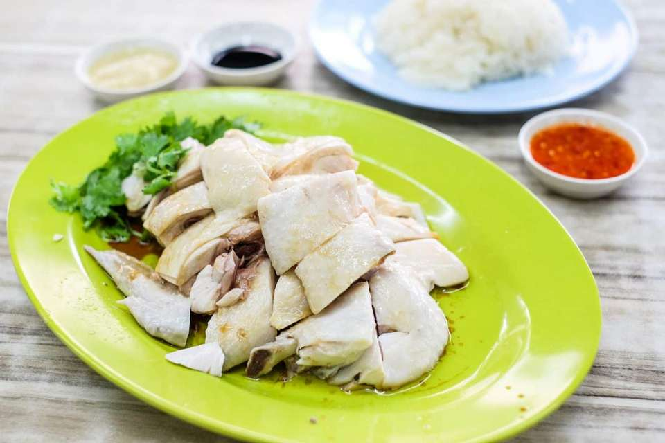 boiled chicken singapore