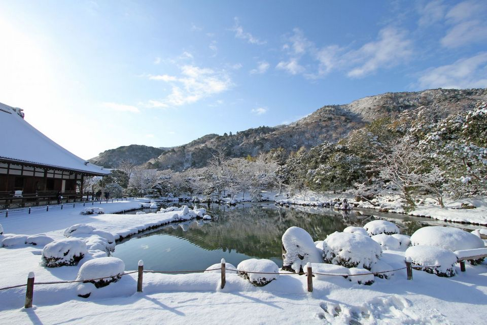 Tenryu-ji temple in Winter