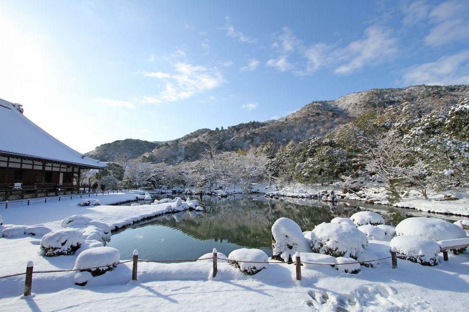 Tenryu-ji temple in Winter