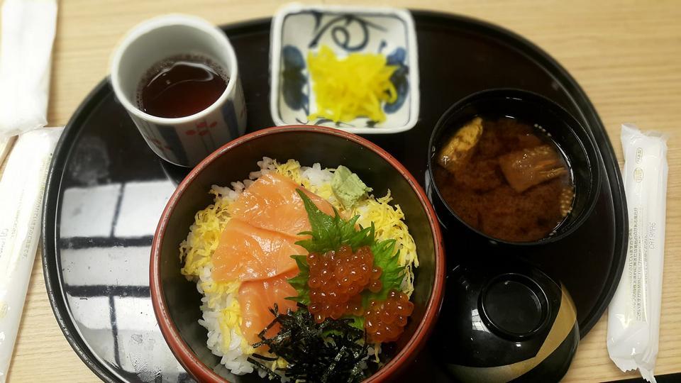 Salmon rice osaka