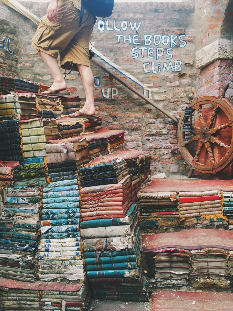 An vintage bookstore in Venice